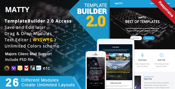 Download Matty - Responsive Email + MailBuild Online nulled download