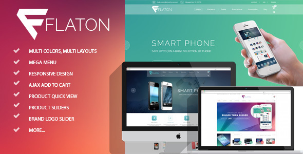 Image of Flaton - Responsive Shopify Digital Theme
