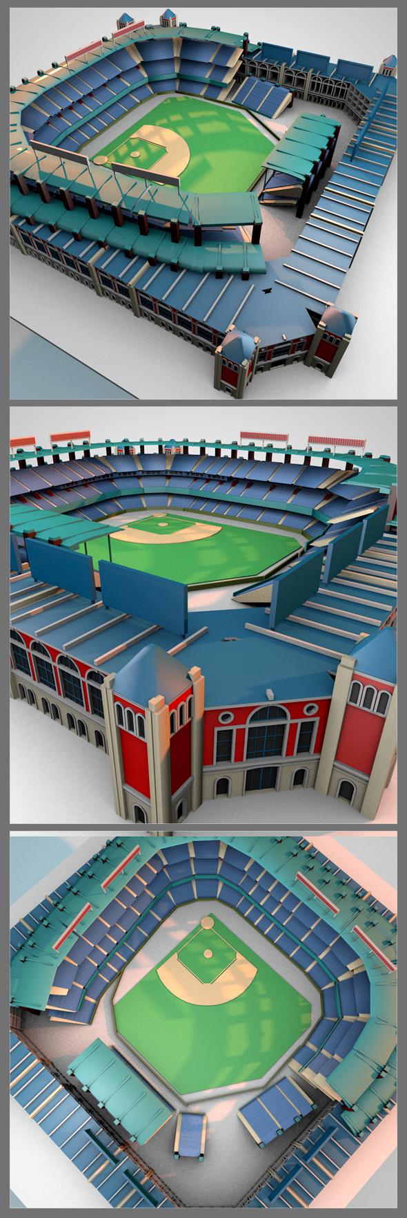 Globe life aprk stadium - 3DOcean Item for Sale