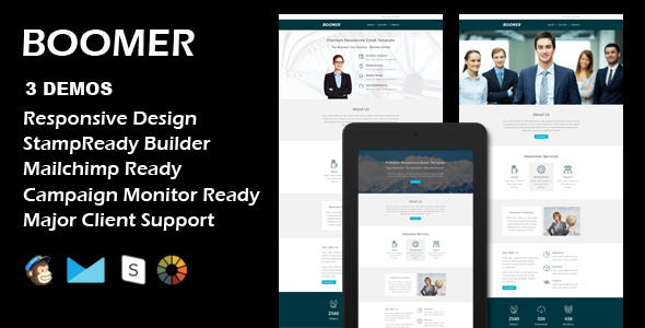 Download BOOMER - Multipurpose Responsive Email Template + Stamp Ready Builder nulled download