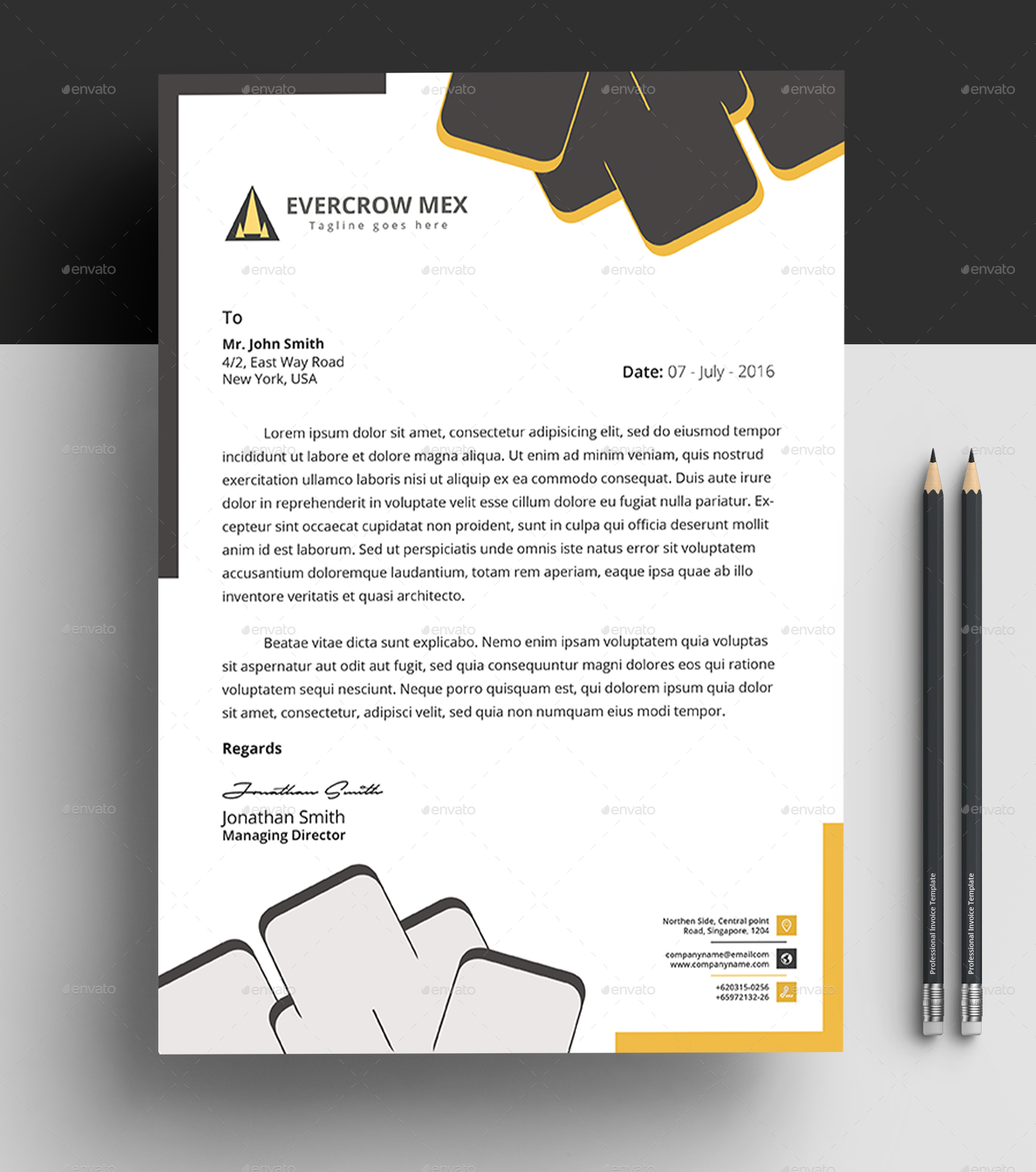 ms word letterhead template by design circle graphicriver
