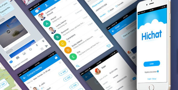 Download Full Ionic Application for Messaging Mobile Application - HiChat nulled download