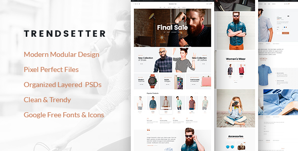 Trendsetter - e-Commerce PSD template
