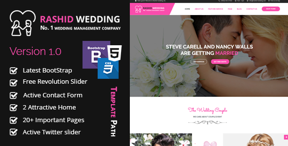 Rashid Wedding - Wedding and Wedding Event Planner HTML Template