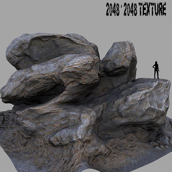 Mount_Rock 1 - 3DOcean Item for Sale