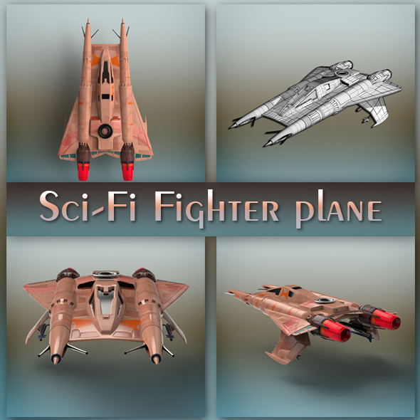 Sci-Fi Fighter plane - 3DOcean Item for Sale