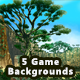 5 Platformer Forest Game Backgrounds - Parallax & Stackable