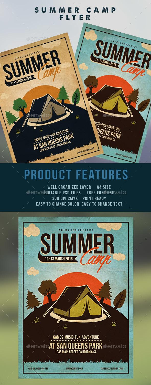 Summer Camp Flyer Template