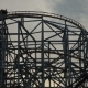 Roller Coaster At The Sunset