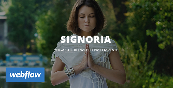 Image of Signoria - Yoga Studio WebFlow Template