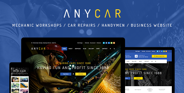 AnyCar - HTML Template for Automotive & Business