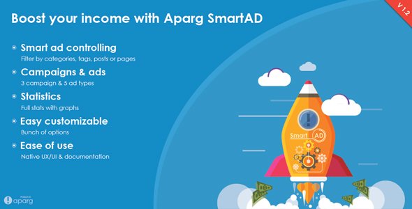 Aparg SmartAd - WordPress Ad Management Plugin - WPMeta