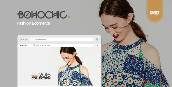 Bohochic - Ecommerce PSD Template