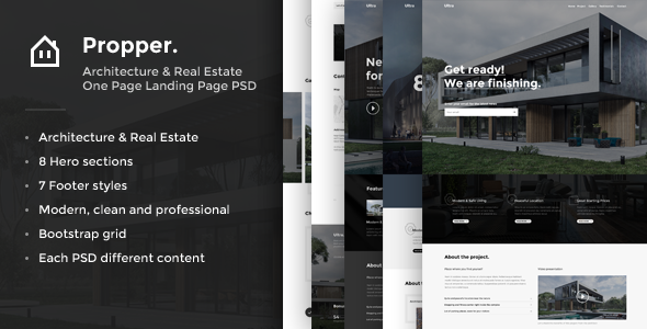 Propper - Architecture PSD Template