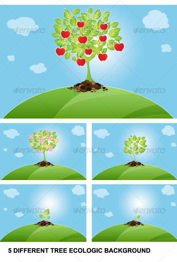 GraphicRiver background tree 68419