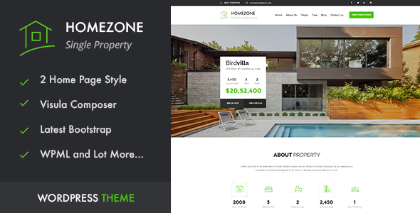 HOME ZONE - Single Property Real Estate WordPress Theme