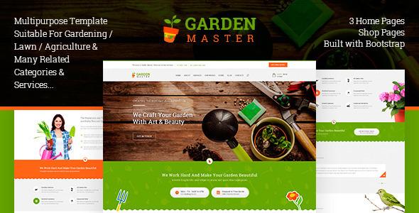 Garden Master - HTML Templates