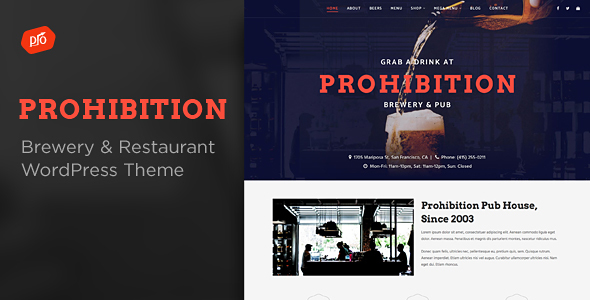 Download Prohibition - Brewery & Restaurant Theme