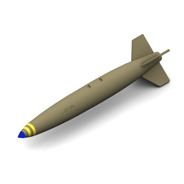 Mk-84 Slick aircraft bomb - 3DOcean Item for Sale