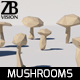 Lowpoly Mushrooms