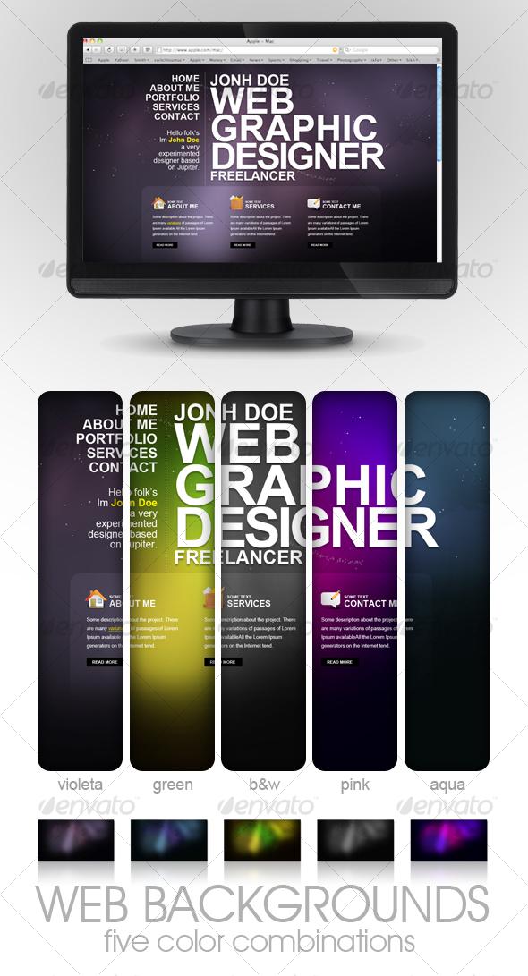 GraphicRiver Lighting Backgrounds V2 68435