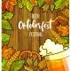 Octoberfest Festival Cartoon Design With Glass