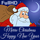 Merry Christmas And Happy  New Year Animated Card