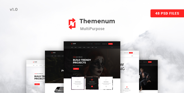 Themenum - A stunning and Creative Multipurpose PSD Template