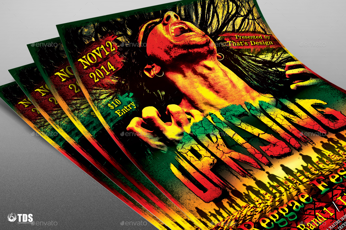 03_Reggae-Uprising-Flyer-Template  Inch Letters Template on sample business, sample request, basic cover,