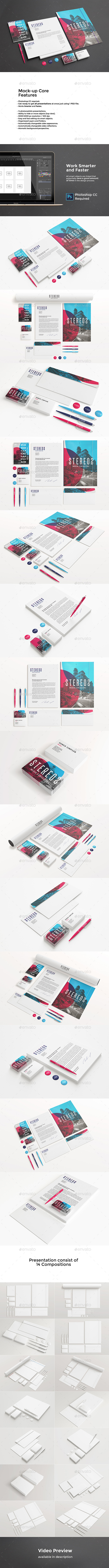 Corporate Identity Mockup PSD / AI (Stationery)