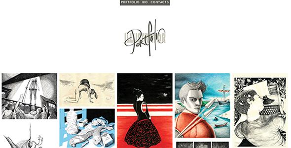 Illustrator - A Responsive Minimal Portfolio