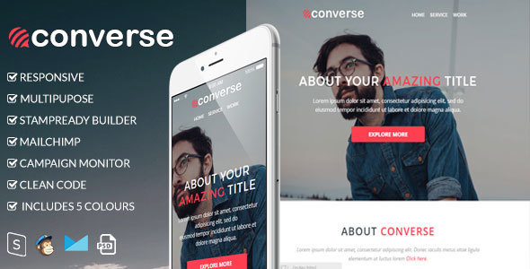Image of Converse - Responsive Email Template