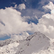 Snowy Mountains and Clouds (Andorra, Pyrenees, Grandvalira)