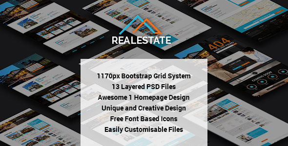 RealEstate - Multi Purpose PSD Template