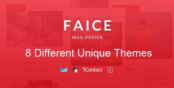 Download Faice Mail- 8 Unique Responsive Email set + Online Access  nulled download