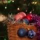 Christmas Balls And Fir Tree With Garland Flashing