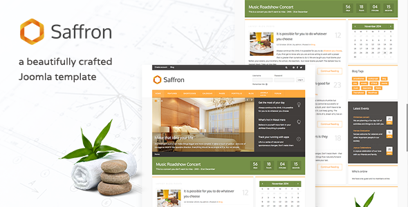 Saffron - Responsive Joomla Business Template