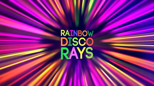 VideoHive Rainbow Disco Rays 17650205
