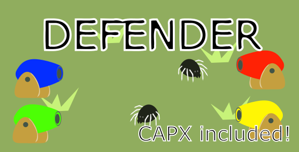 Defender HTML5 Android Ios Game