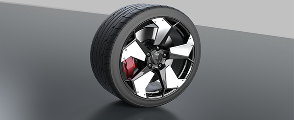 Wheel from lamborghini - 3DOcean Item for Sale