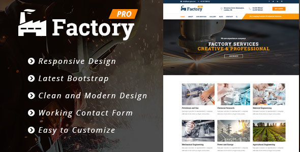 Factory Pro - Industrial Business HTML5 Template