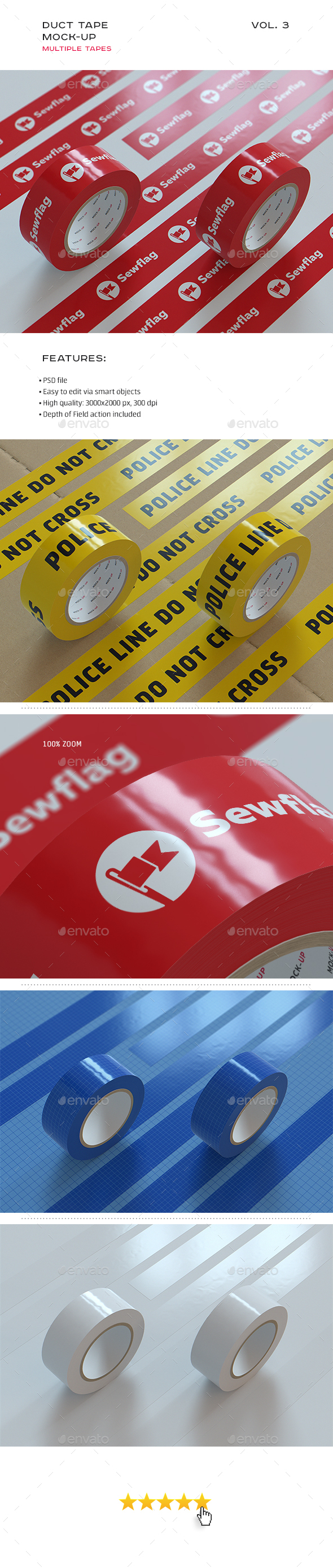 Duct Tape Mock-up vol. 3 (Stationery)
