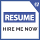 Hired - Professional Resume WordPress Template