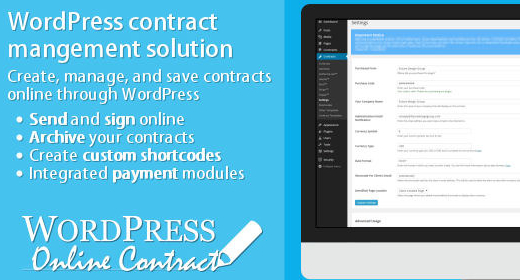 WordPress Online Contract