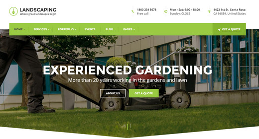 Awesome Landscaper WordPress Theme 2016