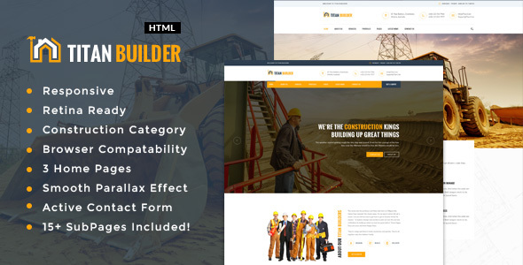 Titan Builders : Construction HTML Template