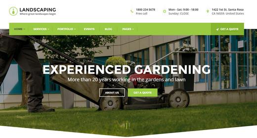 Amazing Landscaping Theme WordPress 2016