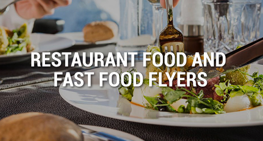 Restaurant Food and Fast Food Flyers