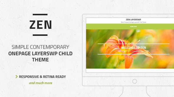 Zen - Multi-Purpose OnePage LayersWP Child Theme