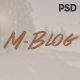 M-Blog - Personal Bloging PSD Template